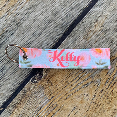Personalized Fabric Key Fob