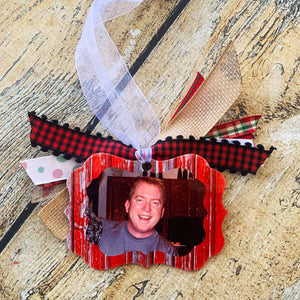 Metal Photo Memory Ornament