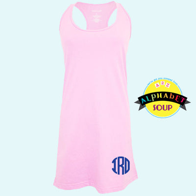 Pink Coverup with Bottom Monogram