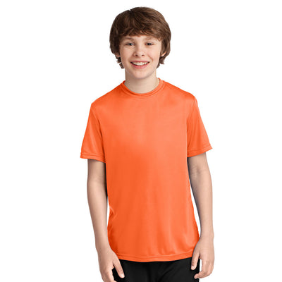 Personalized Youth Performance Short Sleeve Tee - Orange