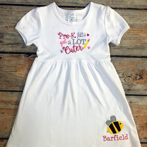 Pre-K Just Got Cuter Design Dress