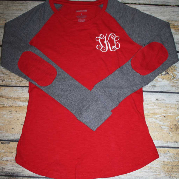 Preppy Patch Monogram Red Shirt