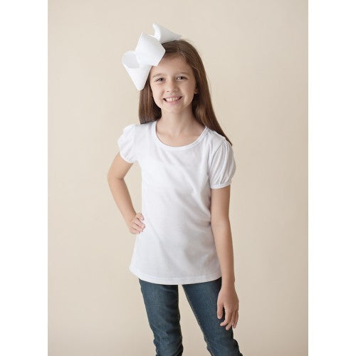 Girls Puff Sleeve Personalized Tee
