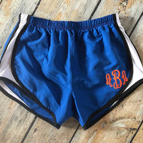 Embroidered Running Short in Royal