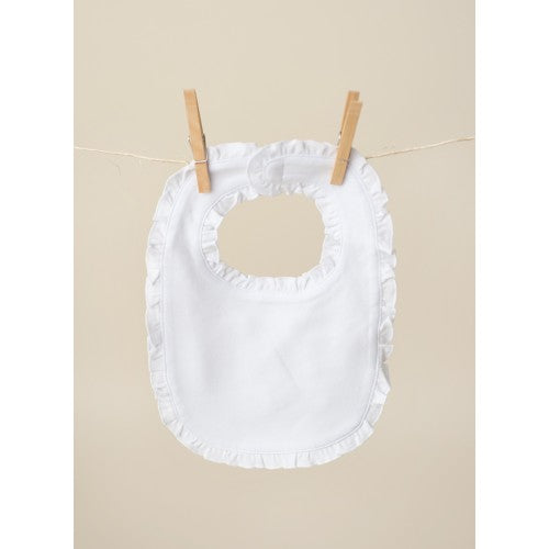 Ruffled Edge Baby Bib
