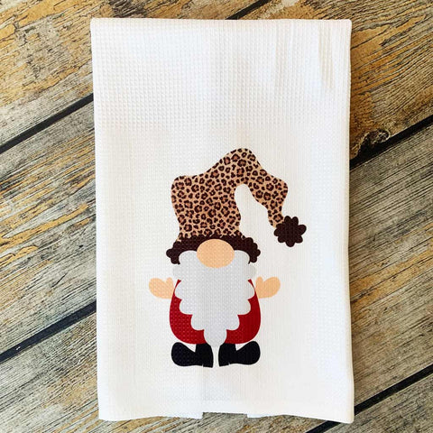 Sublimated Santa Gnome Hand Towel