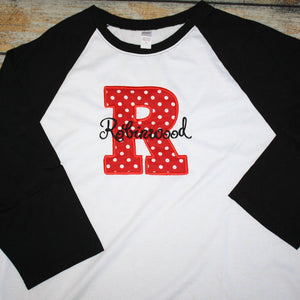 School Spirit Applique Design Tee