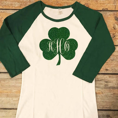 Monogram Shamrock Vinyl Design Shirt