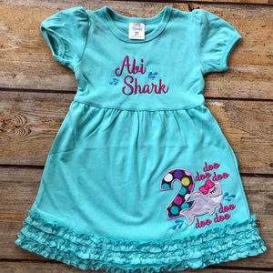 Shark Doo Doo Applique Dress