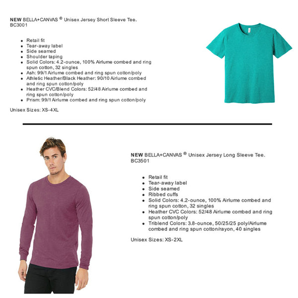 Short and Long Sleeve Shirt Specs