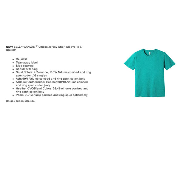 Bella Canvas Tee Specs