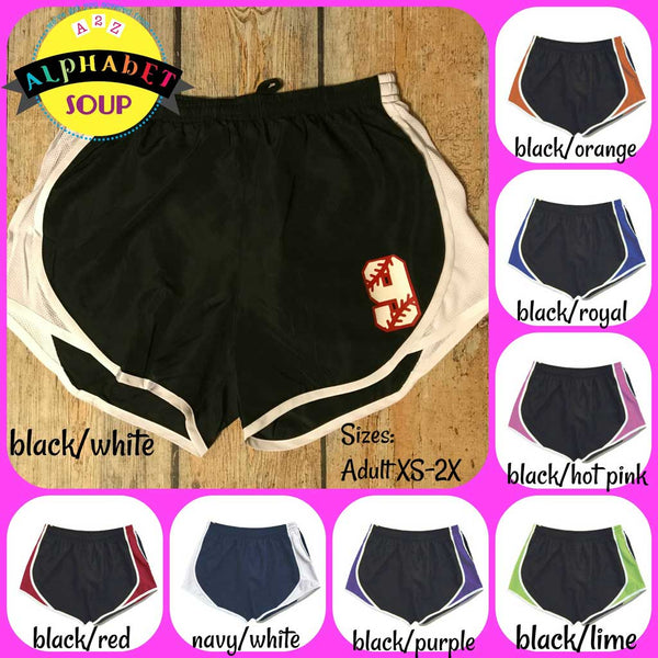 Embroidered Running Shorts Color Chart