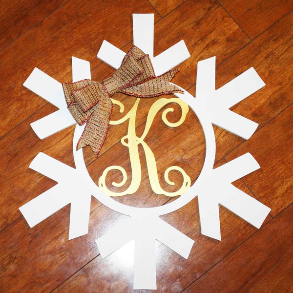 Wood Snowflake with Initial (finished)
