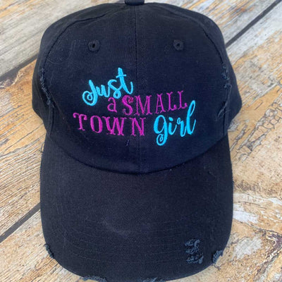 Just a Small Town Girl Hat in Blue