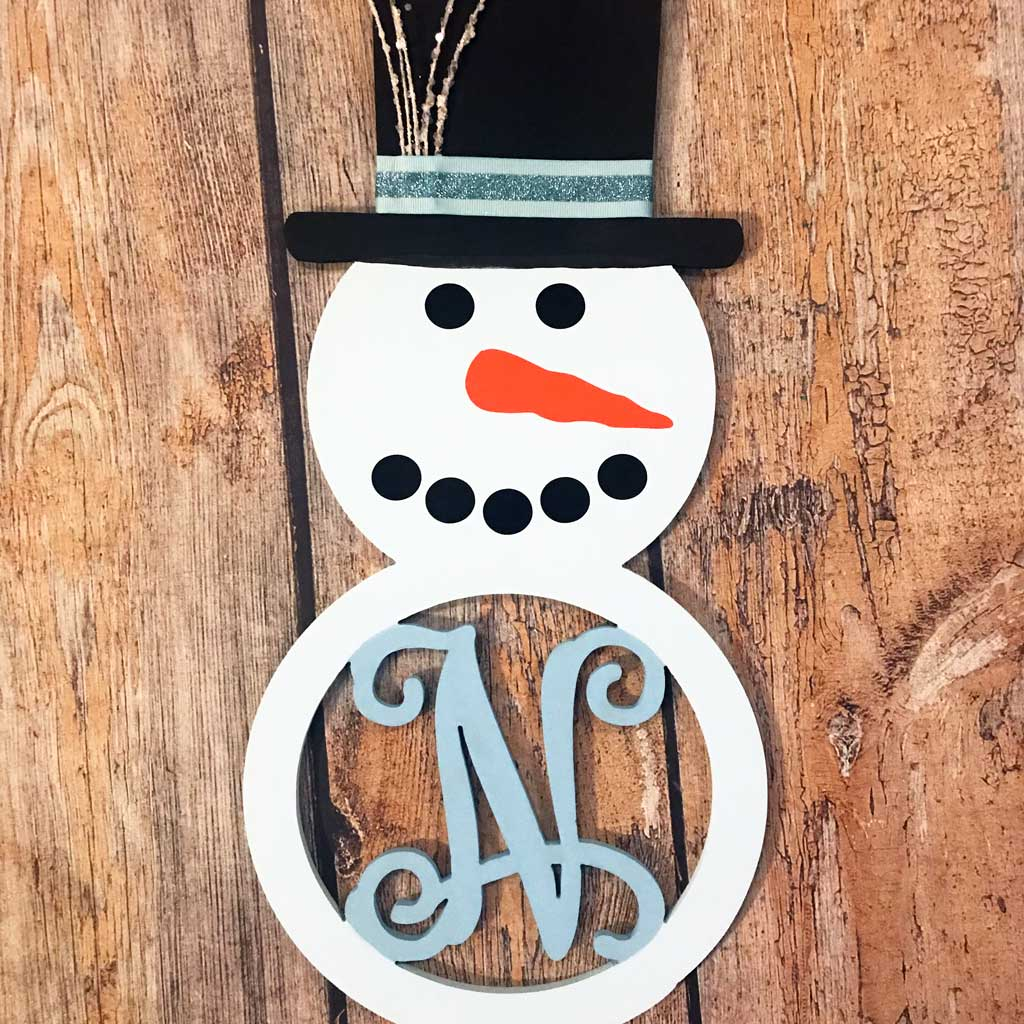 Snowman Initial Wall Hanging