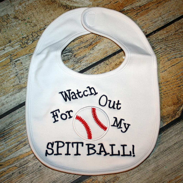 Watch Out for Spit Balls Baby Bib