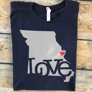 State Love Vinyl Design Shirt