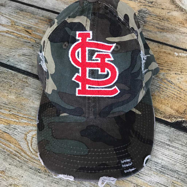 St. Louis Logo Hat Red Letters