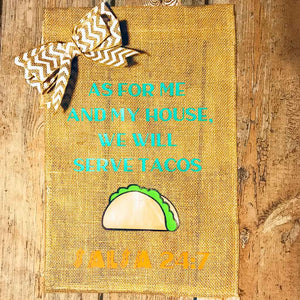 Taco Lovers Garden Flag
