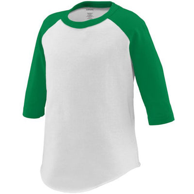 Personalized Toddler Raglan Tee - White & Green