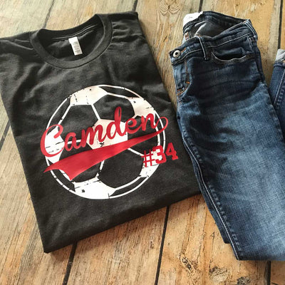 Distressed Sports Ball Tee White Volleyball