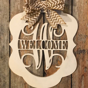 Alice Welcome Wood Hanging