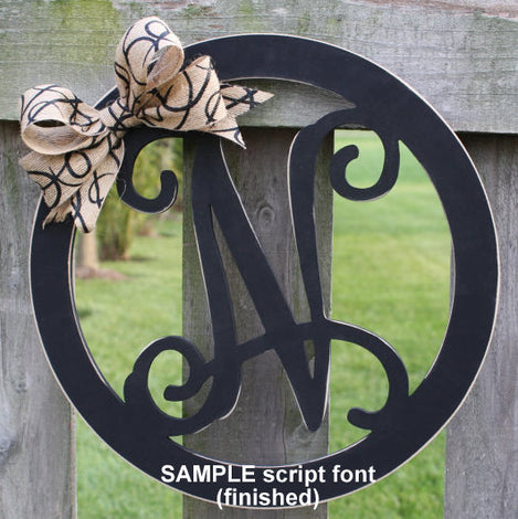 Wood Initial Hanging Decor - Finished