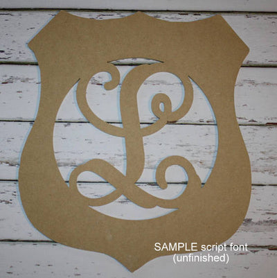 Police Badge Initial Wall Hanging