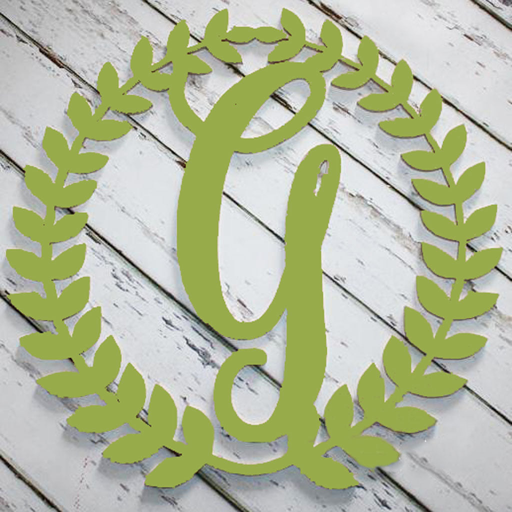 Roman Wreath Initial Wall Hanging