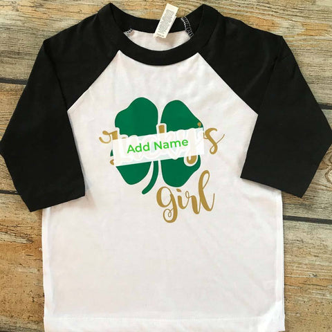 Your Girl in Shamrock Vinyl Design Shirt
