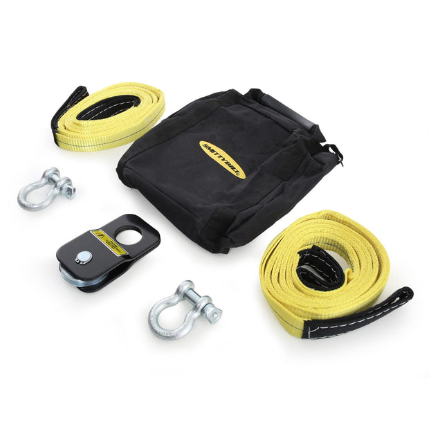 Winch Accessory Kit ATV Includes Snatch Block, Pair Of Shackles, Pair Of Straps Smittybilt - 2729