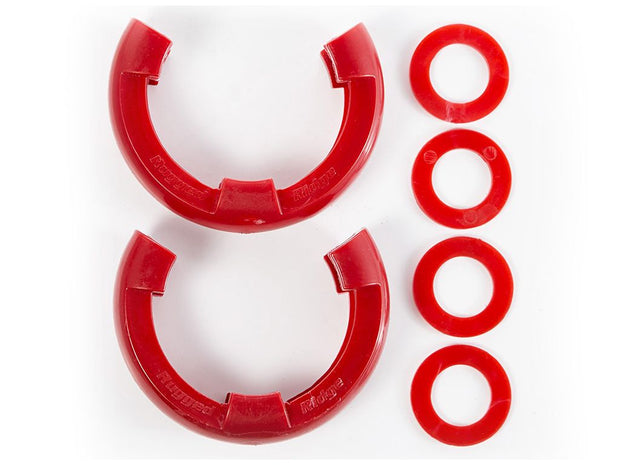 Rugged Ridge D-Ring Shackle Isolator Kit 3/4-Inch Red (Pair) Part# 11235.31