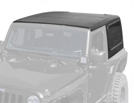 Hard Top 2 Piece W/O Upper Doors 07-18 Wrangler JK 2 DR Textured Black Smittybilt - 517701