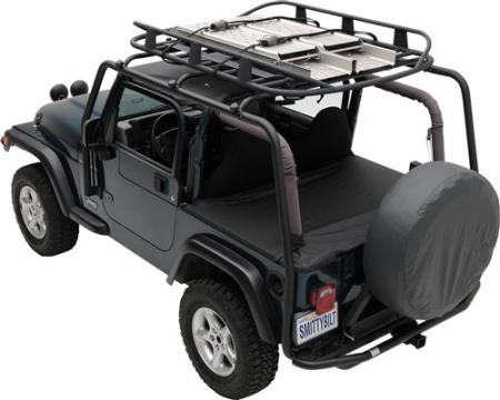 SRC Roof Rack 07-18 Wrangler JK 2 DR 300 Lb Rating Black Textured Smittybilt - 76716