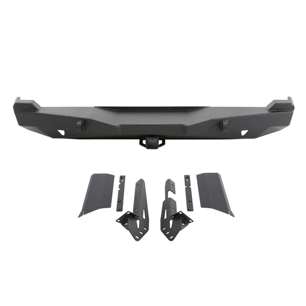 XRC Rear Bumper W/Hitch 84-01 Cherokee XJ Black Textured Smittybilt - 76850