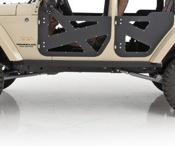 XRC Rocker Guards w/ Step 07-18 Wrangler JK 2 Door Black Powdercoat Smittybilt  - 76888