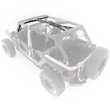 Load image into Gallery viewer, SRC Cage Kit 6 Piece 10-18 Wrangler JK 4 DR Gloss Black Smittybilt - 76904