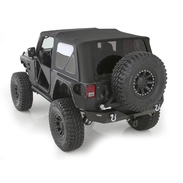 Soft Top 10-18 Wrangler JK 2 DR OEM Replacement W/Tinted Windows Black Diamond Smittybilt - 9075235
