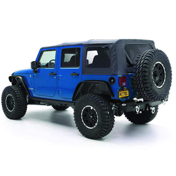 Soft Top 10-18 Wrangler JK 4 DR OEM Replacement W/Tinted Windows Black Diamond Smittybilt - 9085235