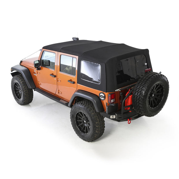 Soft Top Premium Canvas 10-18 Wrangler JK 4 DR OEM Replacement W/Tinted Windows Black Diamond Smittybilt - 9086235