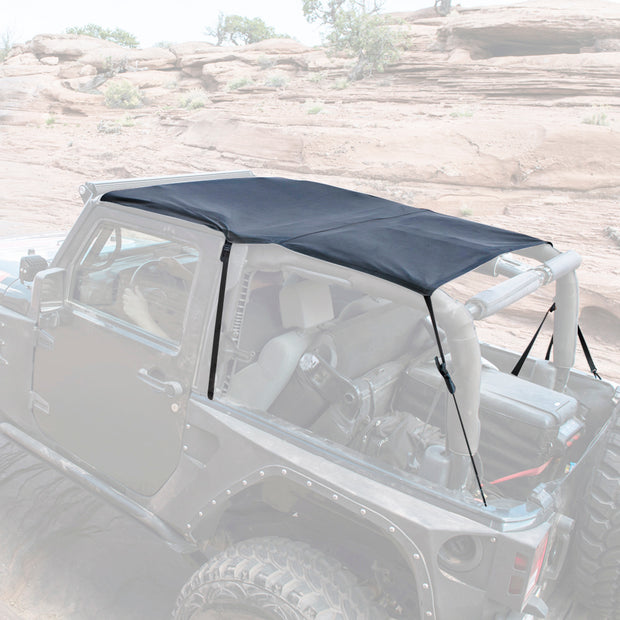 Extended Soft Top 07-09 Wrangler JK 2 DR Black Diamond Smittybilt - 94135