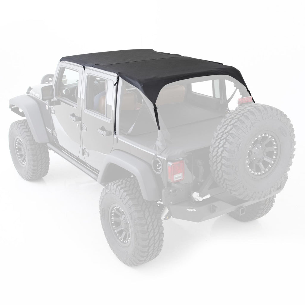 Extended Soft Top 10-18 Wrangler JK 4 DR Black Diamond Smittybilt - 94635