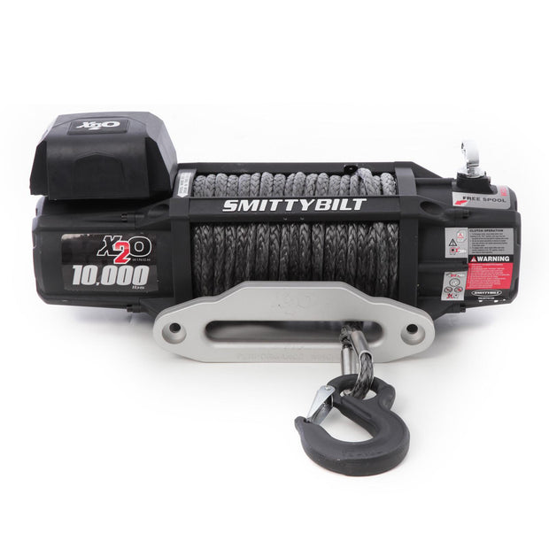 X2O 10 Comp Gen2 10,000 lb Winch Comp Series W/Synthetic Rope Aluminum Fairlead Smittybilt - 98510