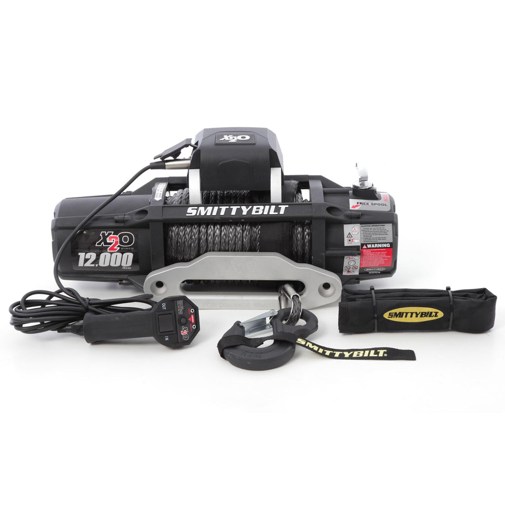 X2O 12 Comp Gen2 12,000 lb Winch Comp Series W/Synthetic Rope Aluminum Fairlead Smittybilt - 98512