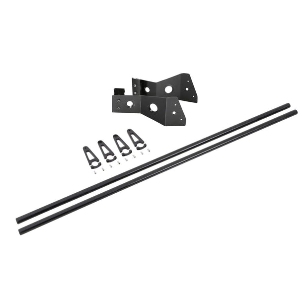4.5 Foot Light Bar Mount Kit For Defender Roof Rack 4 Light Tabs Black Smittybilt - D8045