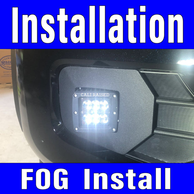 Fog Light Installation using adaptor plug Labor Only