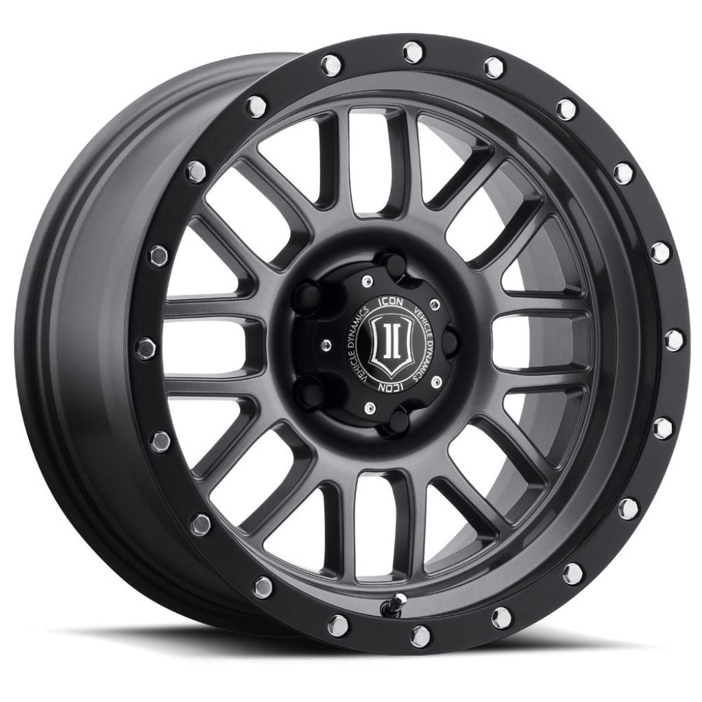 "ICON ALLOYS ALPHA GUN MTL - 17 X 8.5 / 6 X 5.5 / 0MM / 4.75"" BS - 1217858347GM"