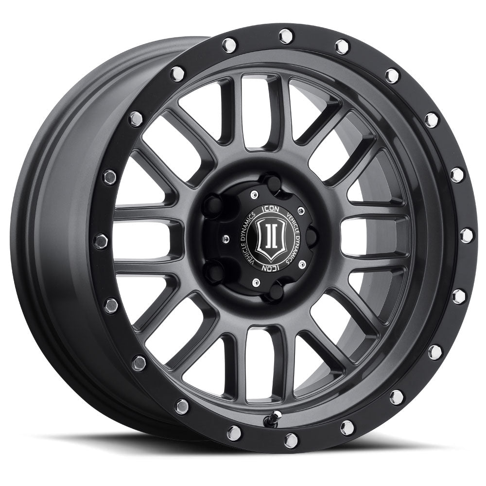 "ICON ALLOYS ALPHA GUN MTL - 17 X 8.5 / 6 X 135 / 6MM / 5"" BS - 1217856350GM"