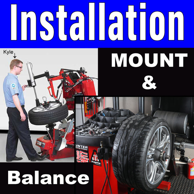 Mount and Balance Tires Labor Only