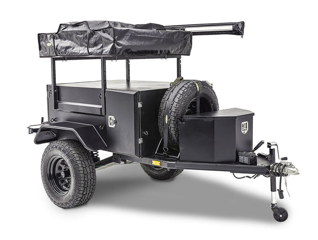 Scout Trailer Kit for Off Grid Overlanding w/ Wheels and Tires Black Smittybilt - 87400